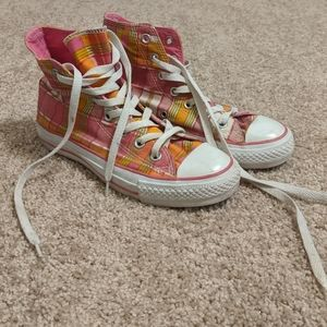Converse Plaid High Top Sneakers